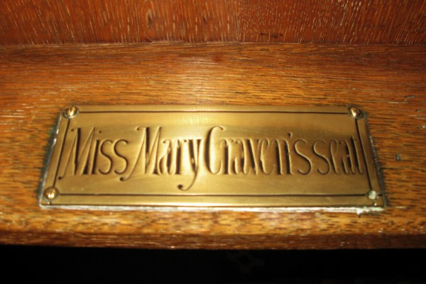 Miss Mary Craven's Seat